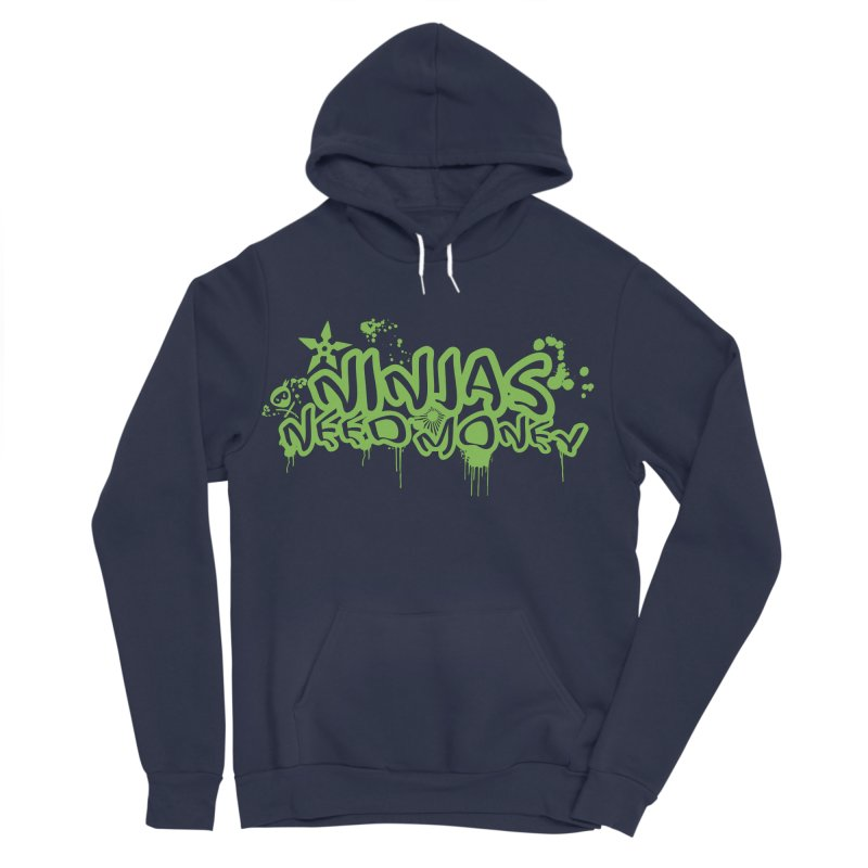 Urban Ninja Green Women's Sponge Fleece Pullover Hoody by Ninjas Need Money's Artist Shop