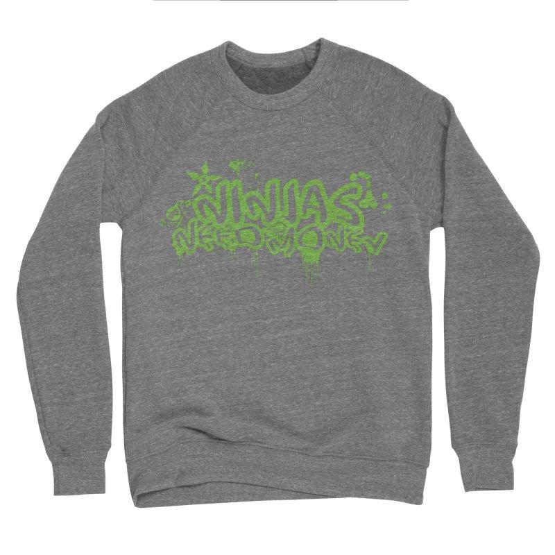 Urban Ninja Green Men's Sweatshirt by Ninjas Need Money's Artist Shop
