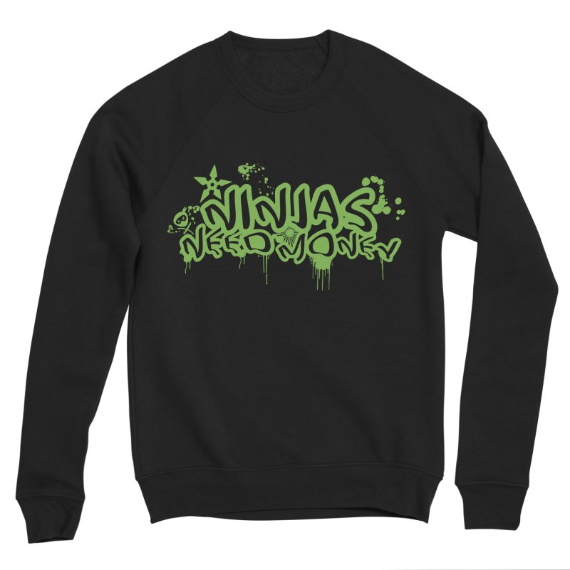 Urban Ninja Green Men's Sponge Fleece Sweatshirt by Ninjas Need Money's Artist Shop