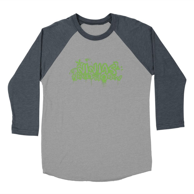 Urban Ninja Green Men's Baseball Triblend Longsleeve T-Shirt by Ninjas Need Money's Artist Shop
