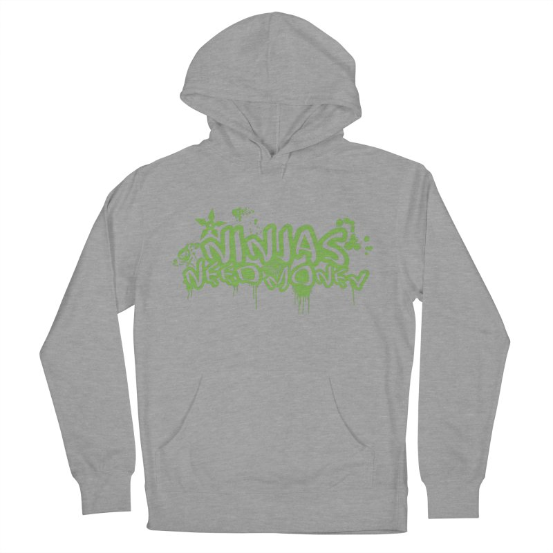 Urban Ninja Green Women's French Terry Pullover Hoody by Ninjas Need Money's Artist Shop