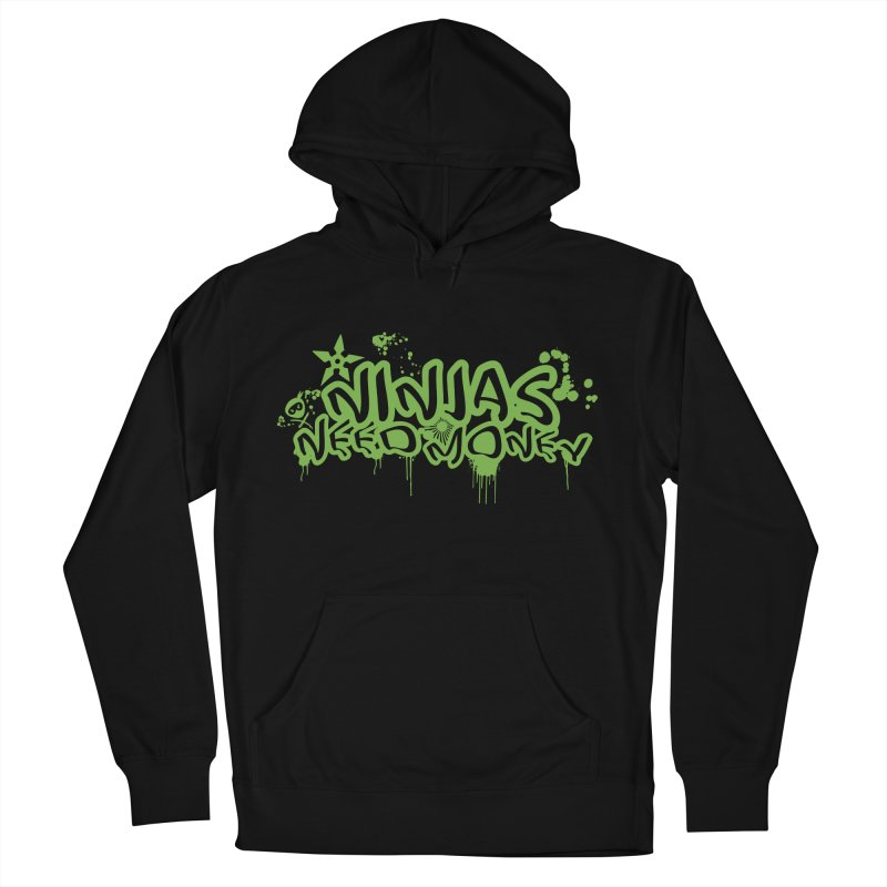 Urban Ninja Green Men's French Terry Pullover Hoody by Ninjas Need Money's Artist Shop