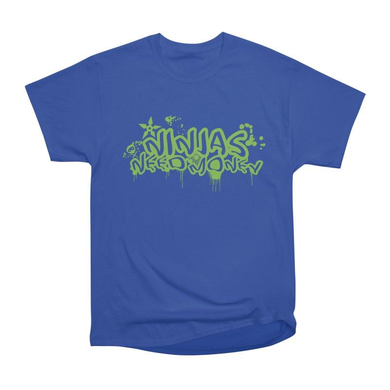 Urban Ninja Green Women's Heavyweight Unisex T-Shirt by Ninjas Need Money's Artist Shop