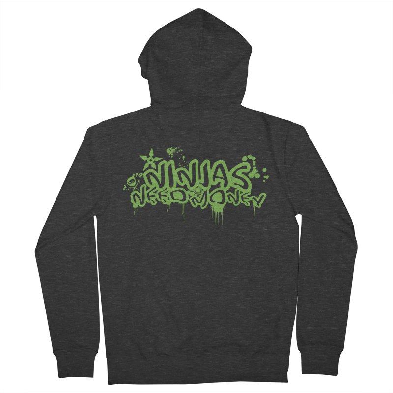 Urban Ninja Green Women's French Terry Zip-Up Hoody by Ninjas Need Money's Artist Shop