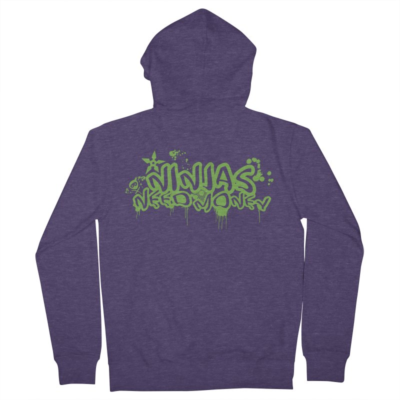 Urban Ninja Green Men's French Terry Zip-Up Hoody by Ninjas Need Money's Artist Shop