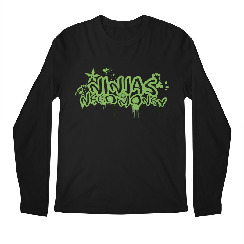 Urban Ninja Green Men's Regular Longsleeve T-Shirt by Ninjas Need Money's Artist Shop