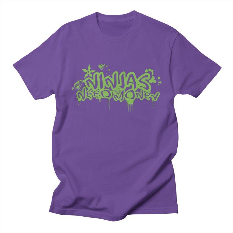 Urban Ninja Green Men's Regular T-Shirt by Ninjas Need Money's Artist Shop