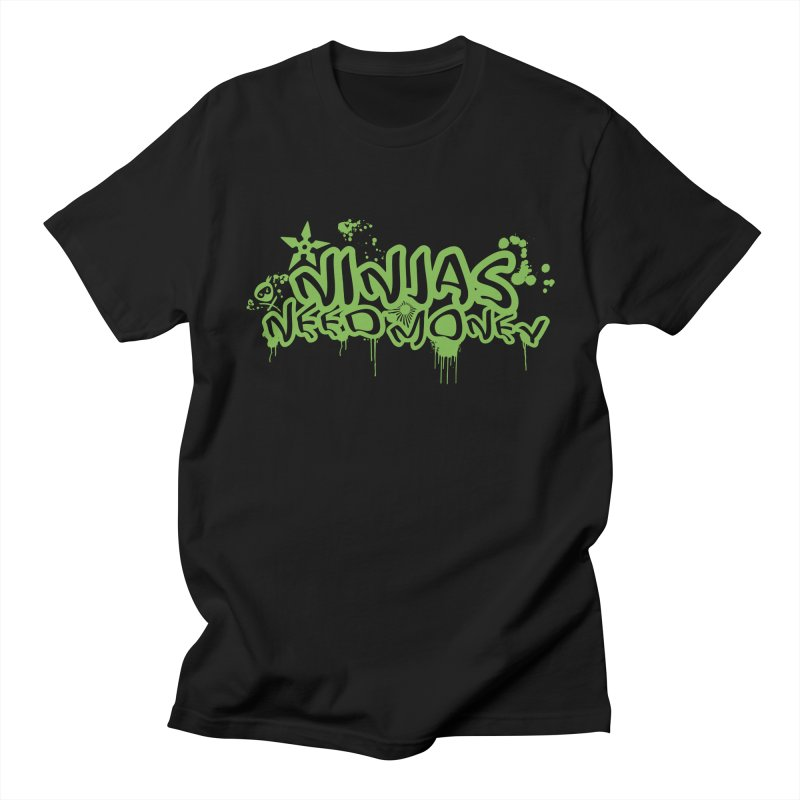 Urban Ninja Green Men's Regular T-Shirt by Ninjas Need Money's Artist Shop
