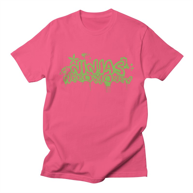 Urban Ninja Green Men's T-Shirt by Ninjas Need Money's Artist Shop