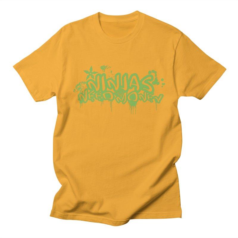 Urban Ninja Green Men's T-Shirt by Ninjas Need Money's Artist Shop