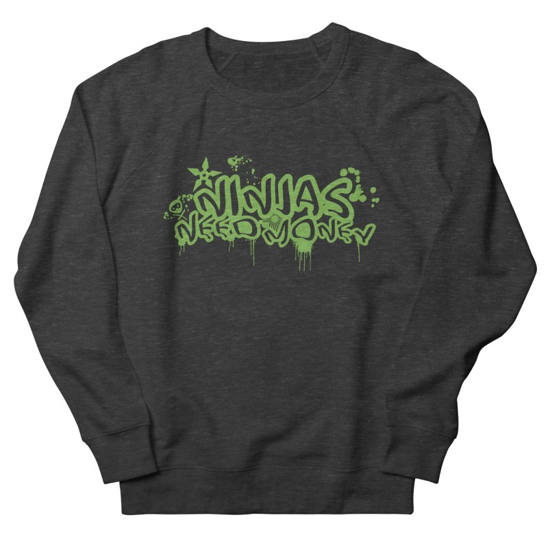Urban Ninja Green Men's French Terry Sweatshirt by Ninjas Need Money's Artist Shop