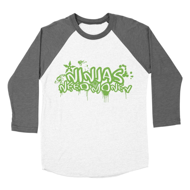 Urban Ninja Green Women's Baseball Triblend Longsleeve T-Shirt by Ninjas Need Money's Artist Shop
