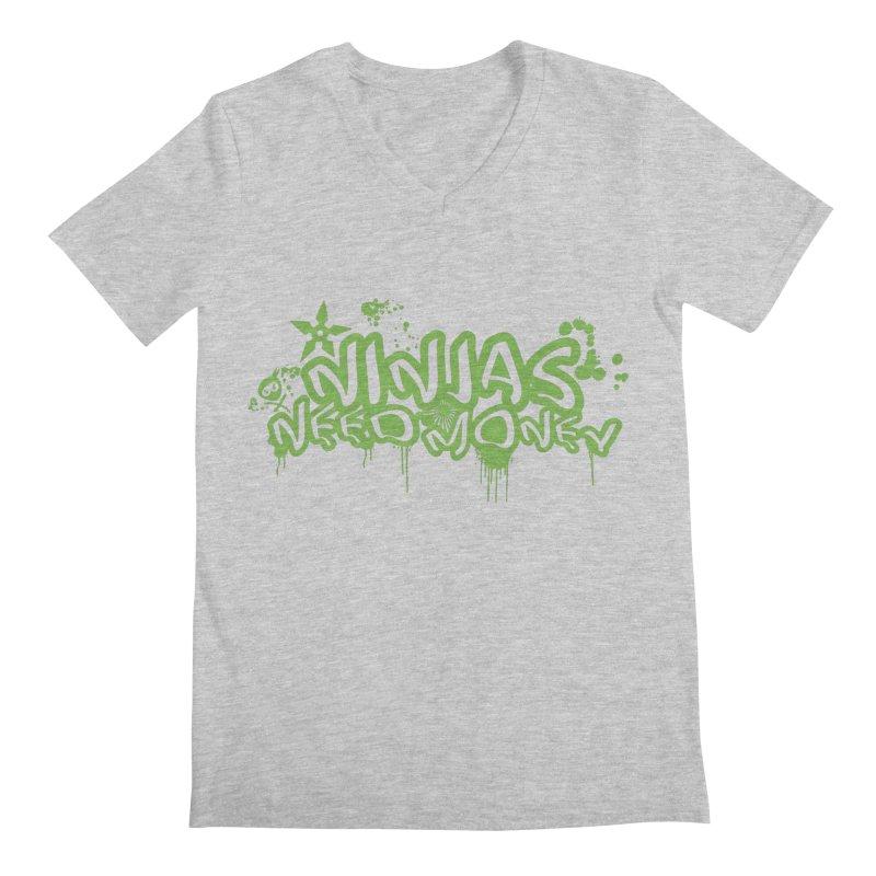 Urban Ninja Green Men's Regular V-Neck by Ninjas Need Money's Artist Shop