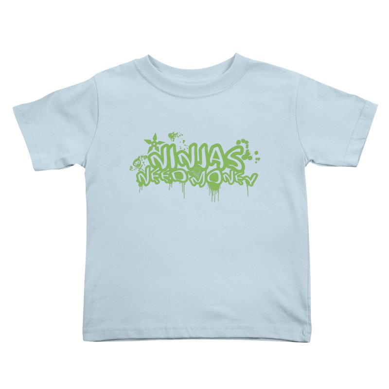 Urban Ninja Green Kids Toddler T-Shirt by Ninjas Need Money's Artist Shop