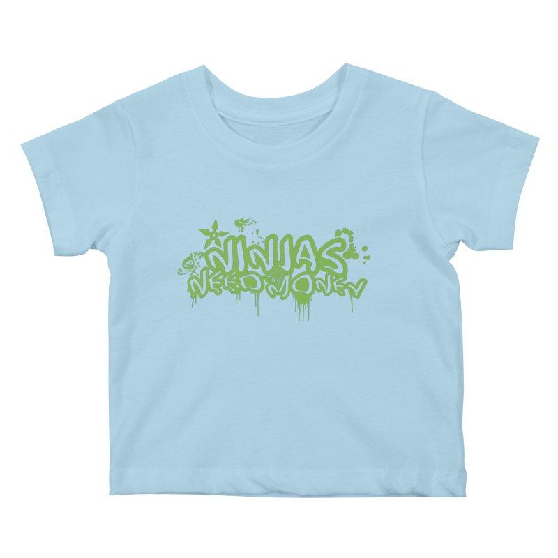 Urban Ninja Green Kids Baby T-Shirt by Ninjas Need Money's Artist Shop