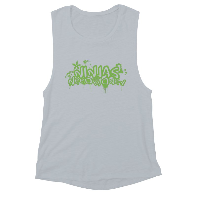 Urban Ninja Green Women's Muscle Tank by Ninjas Need Money's Artist Shop