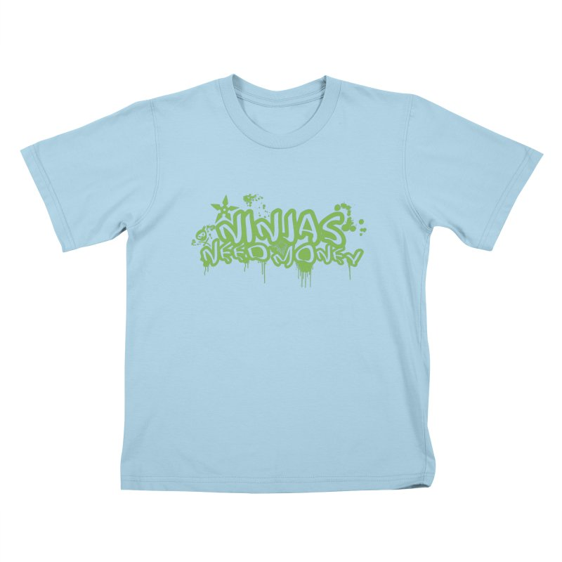 Urban Ninja Green Kids T-Shirt by Ninjas Need Money's Artist Shop