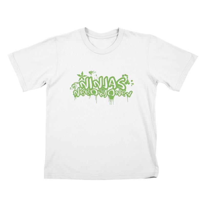 Urban Ninja Green Kids T-Shirt by Ninjas Need Money's Artist Shop