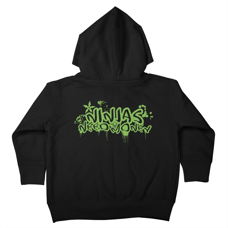 Urban Ninja Green Kids Toddler Zip-Up Hoody by Ninjas Need Money's Artist Shop