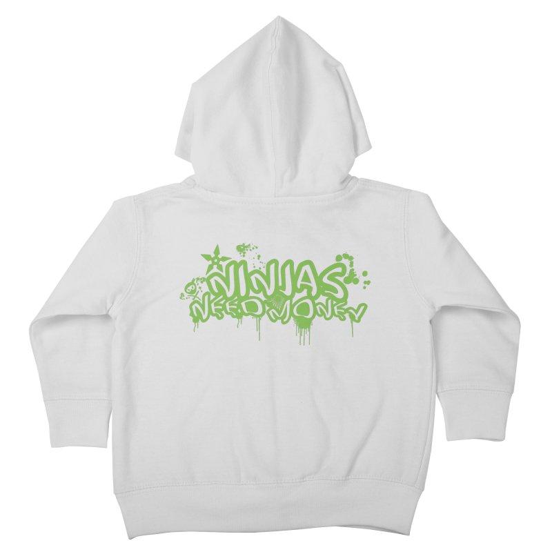 Urban Ninja Green Kids Toddler Zip-Up Hoody by Ninjas Need Money's Artist Shop