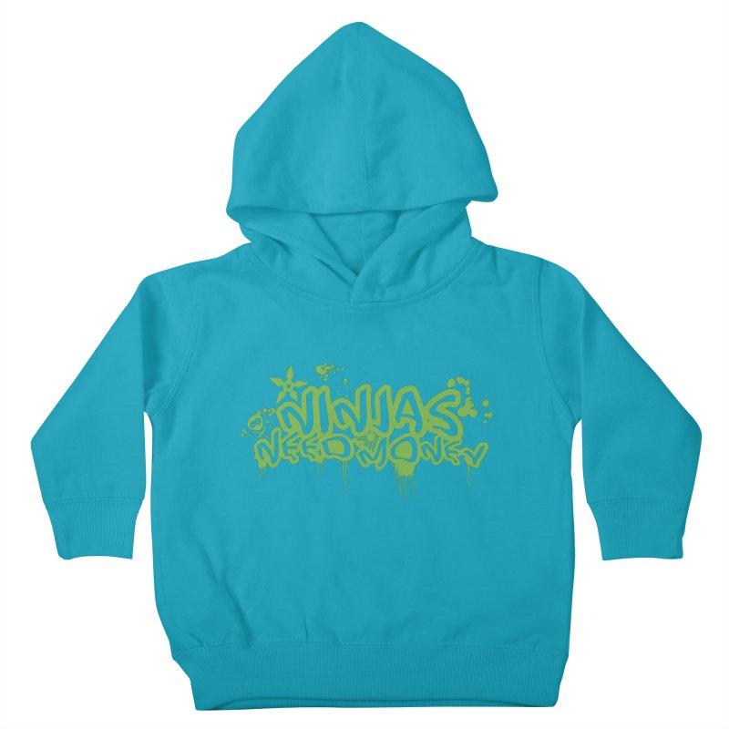 Urban Ninja Green Kids Toddler Pullover Hoody by Ninjas Need Money's Artist Shop
