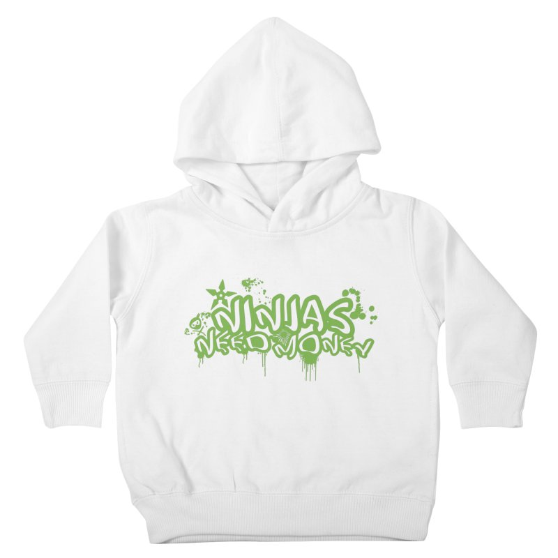 Urban Ninja Green Kids Toddler Pullover Hoody by Ninjas Need Money's Artist Shop