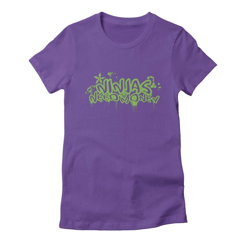 Urban Ninja Green Women's Fitted T-Shirt by Ninjas Need Money's Artist Shop