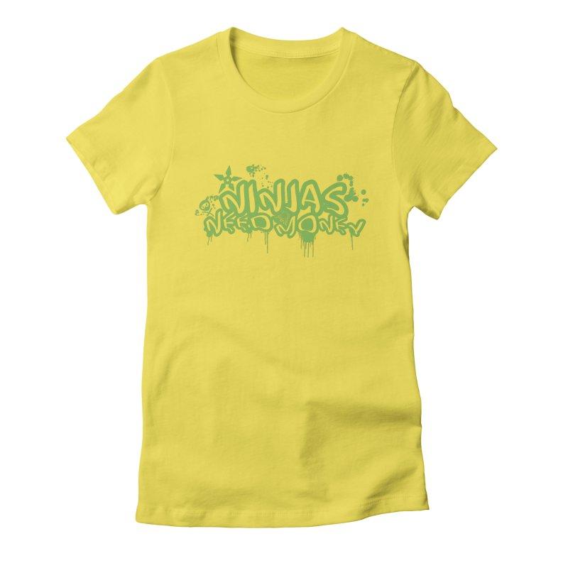 Urban Ninja Green Women's T-Shirt by Ninjas Need Money's Artist Shop