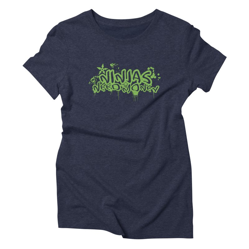 Urban Ninja Green Women's Triblend T-Shirt by Ninjas Need Money's Artist Shop