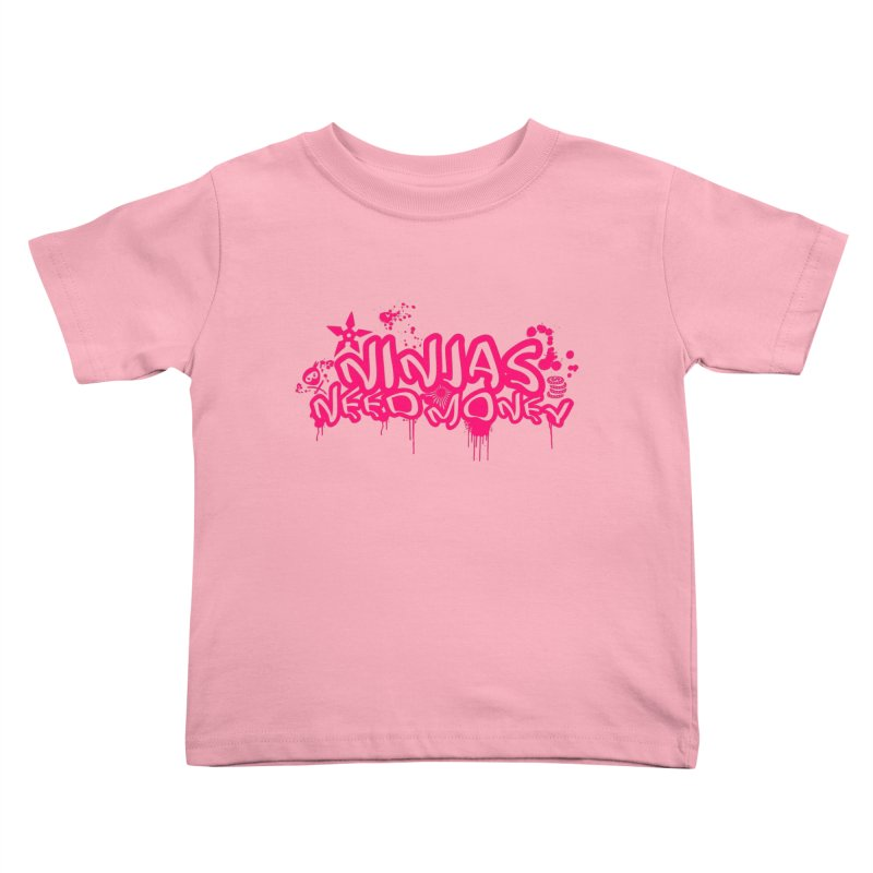 URBAN NINJA PINK Kids Toddler T-Shirt by Ninjas Need Money's Artist Shop