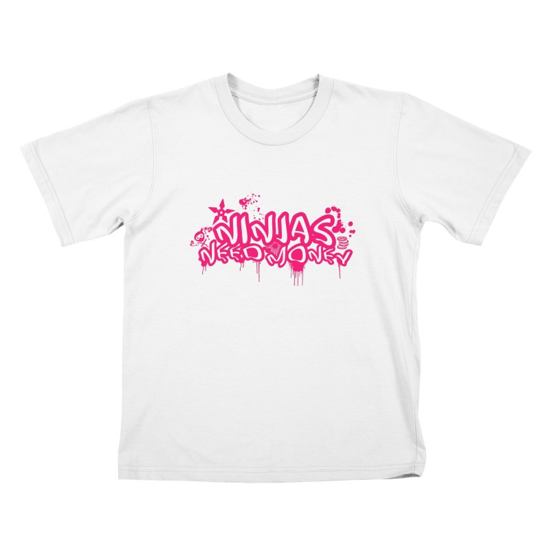 URBAN NINJA PINK Kids T-Shirt by Ninjas Need Money's Artist Shop