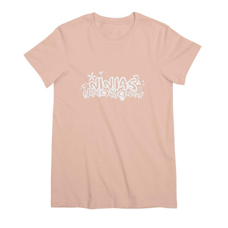 URBAN NINJA WHITE Women's Premium T-Shirt by Ninjas Need Money's Artist Shop