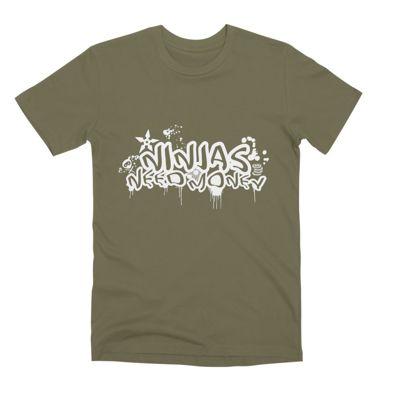 URBAN NINJA WHITE Men's Premium T-Shirt by Ninjas Need Money's Artist Shop