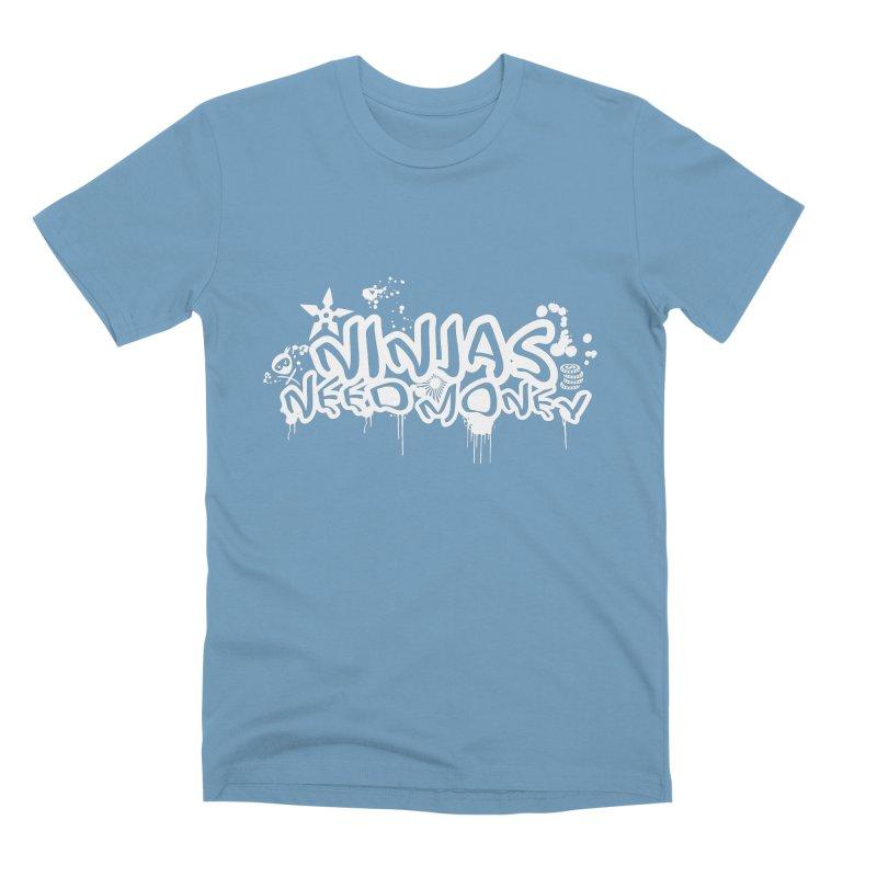 URBAN NINJA WHITE Men's Premium T-Shirt by Ninjas Need Money's Artist Shop