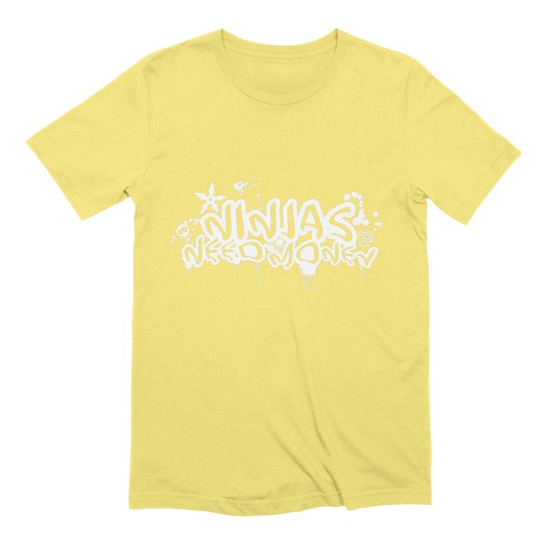 URBAN NINJA WHITE Men's Extra Soft T-Shirt by Ninjas Need Money's Artist Shop