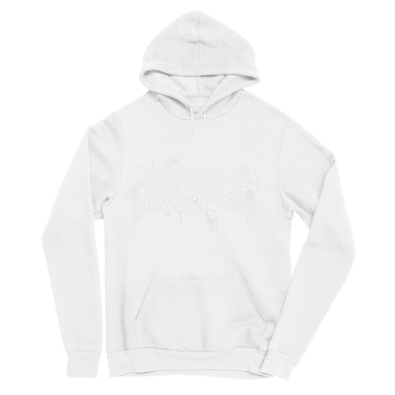 URBAN NINJA WHITE Women's Sponge Fleece Pullover Hoody by Ninjas Need Money's Artist Shop