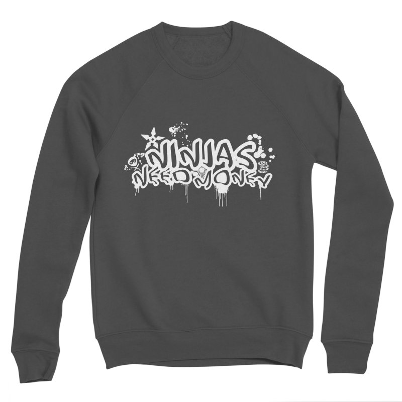 URBAN NINJA WHITE Men's Sponge Fleece Sweatshirt by Ninjas Need Money's Artist Shop