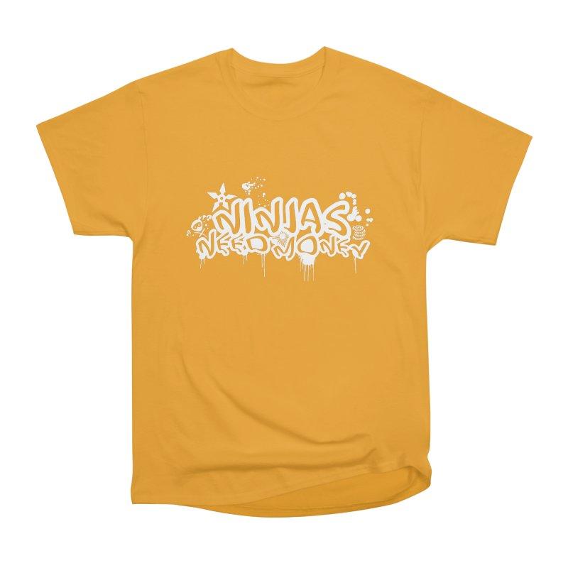 URBAN NINJA WHITE Women's Heavyweight Unisex T-Shirt by Ninjas Need Money's Artist Shop