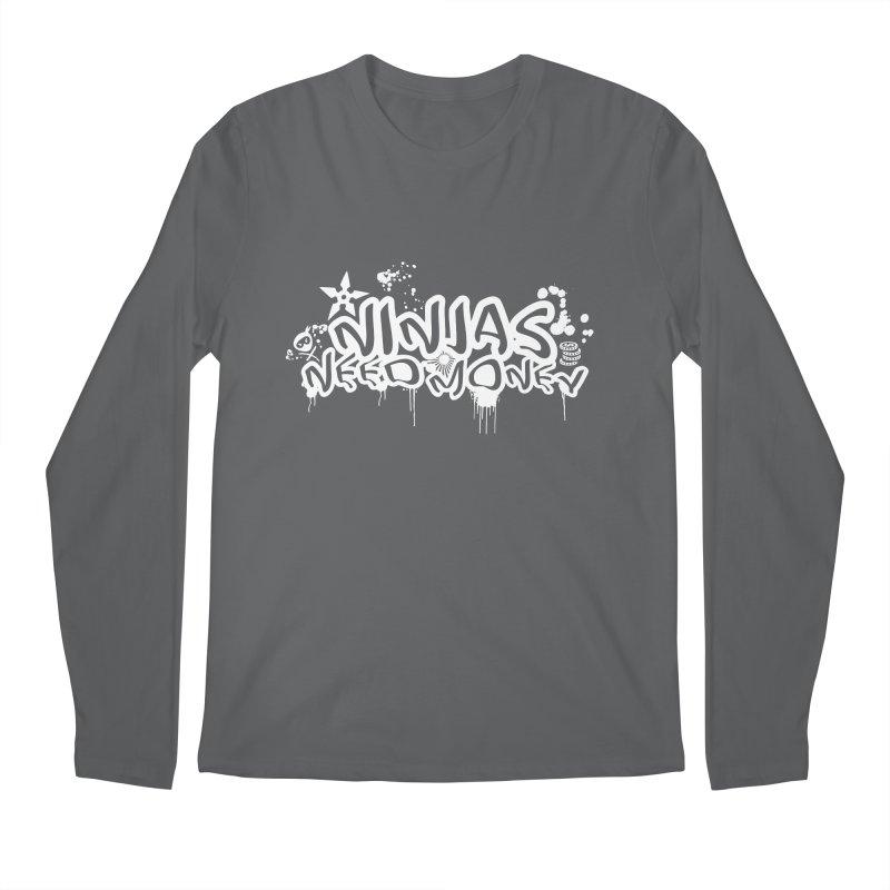 URBAN NINJA WHITE Men's Longsleeve T-Shirt by Ninjas Need Money's Artist Shop
