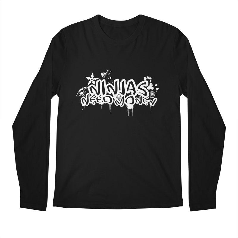 URBAN NINJA WHITE Men's Regular Longsleeve T-Shirt by Ninjas Need Money's Artist Shop