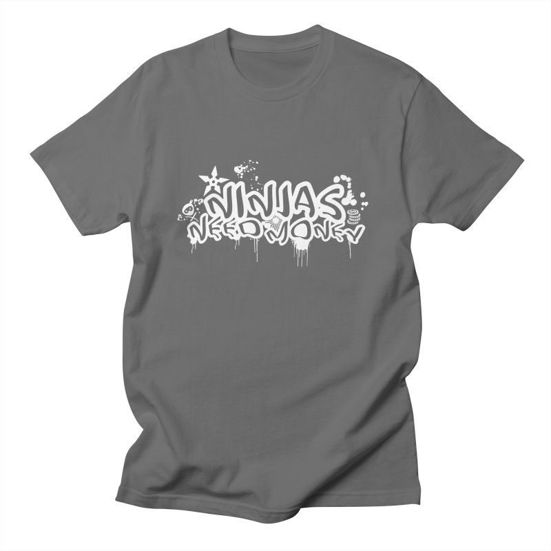 URBAN NINJA WHITE Men's T-Shirt by Ninjas Need Money's Artist Shop