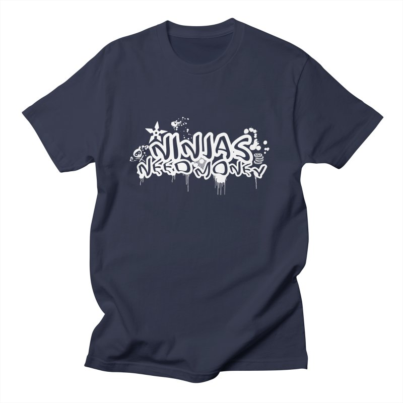 URBAN NINJA WHITE Men's Regular T-Shirt by Ninjas Need Money's Artist Shop
