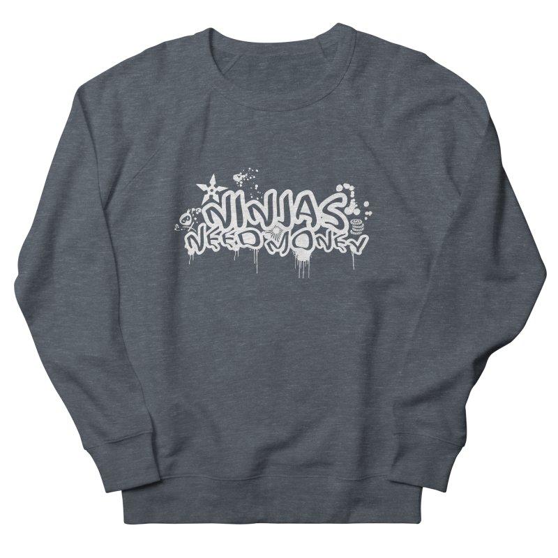 URBAN NINJA WHITE Women's French Terry Sweatshirt by Ninjas Need Money's Artist Shop