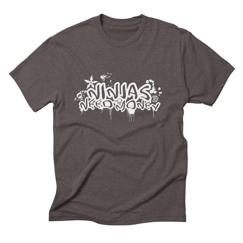 URBAN NINJA WHITE Men's Triblend T-Shirt by Ninjas Need Money's Artist Shop