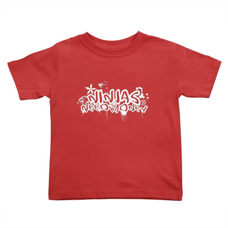 URBAN NINJA WHITE Kids Toddler T-Shirt by Ninjas Need Money's Artist Shop