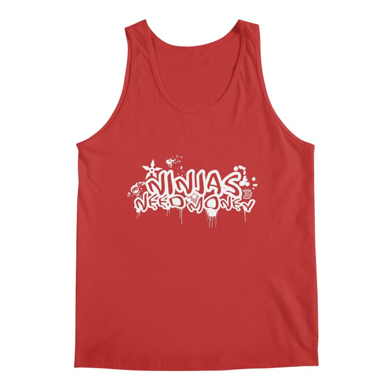 URBAN NINJA WHITE Men's Regular Tank by Ninjas Need Money's Artist Shop