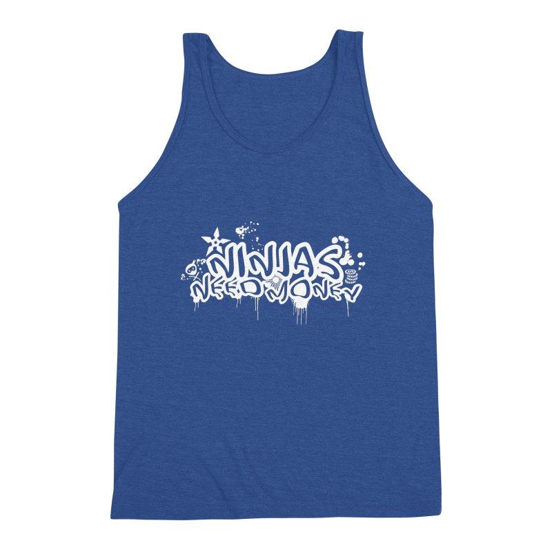 URBAN NINJA WHITE Men's Tank by Ninjas Need Money's Artist Shop