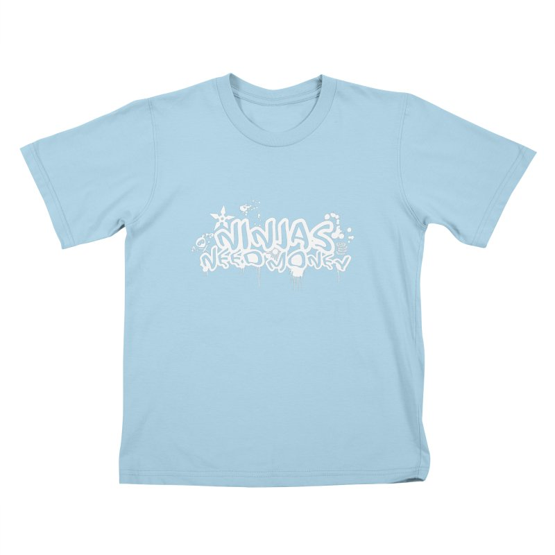 URBAN NINJA WHITE Kids T-Shirt by Ninjas Need Money's Artist Shop
