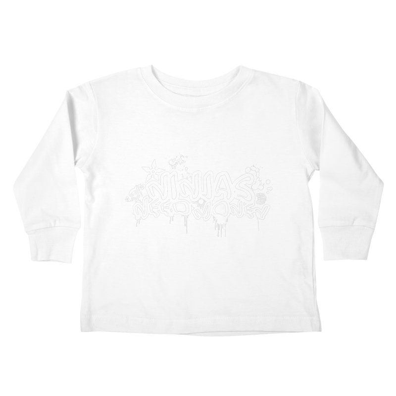 URBAN NINJA WHITE Kids Toddler Longsleeve T-Shirt by Ninjas Need Money's Artist Shop