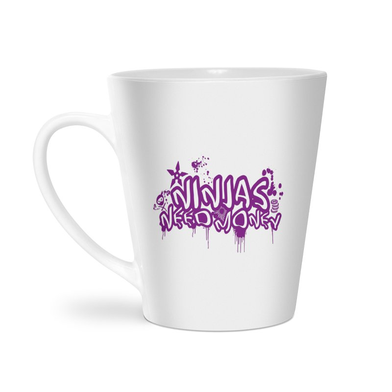 URBAN NINJA PURPLE Accessories Latte Mug by Ninjas Need Money's Artist Shop